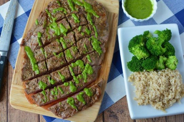 photo of Flank Steak with Chimichurri