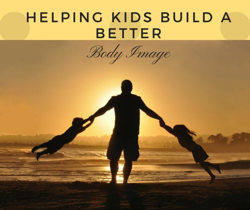 Helping Kids Build a Better Body Image - photo of father and kids on beach at sunset