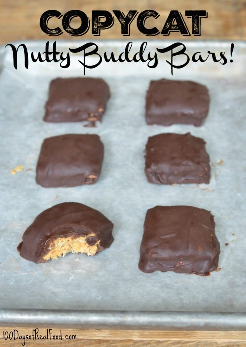 Copycat Nutty Buddy Bars on 100 Days of Real Food