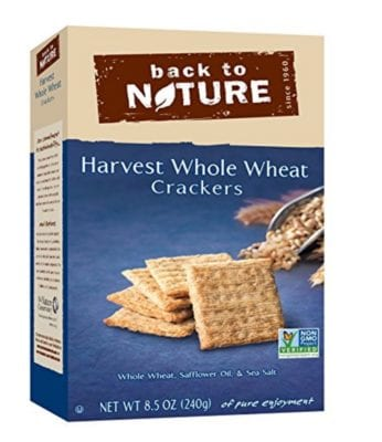 What Packaged Products I DO Buy - Back to Nature Harvest Whole Wheat Crackers