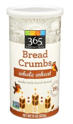 What Packaged Products I DO Buy - 365 Whole Wheat Bread Crumbs