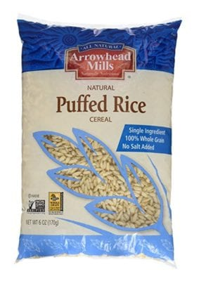 What Packaged Products I DO Buy - Arrowhead Mills Puffed Rice Cereal
