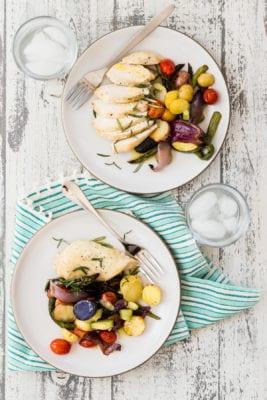 Sheet Pan Chicken with Summer Veggies