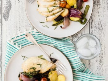 Sheet Pan Chicken with Summer Veggies