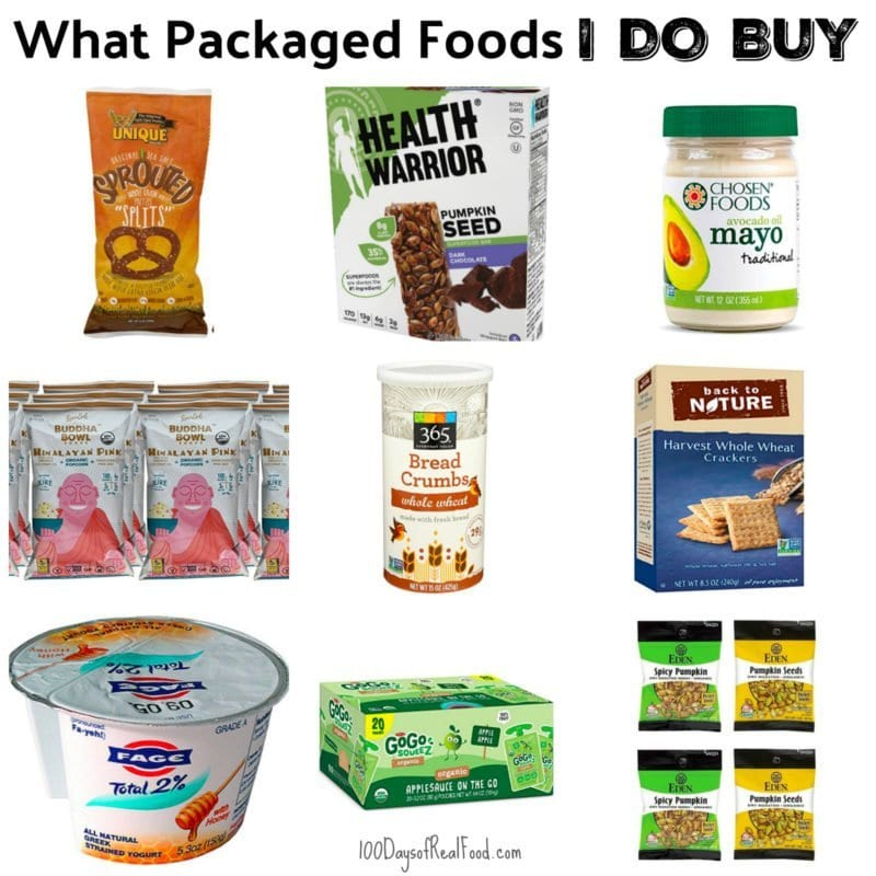 What Packaged Foods I DO Buy on 100 Days of Real Food