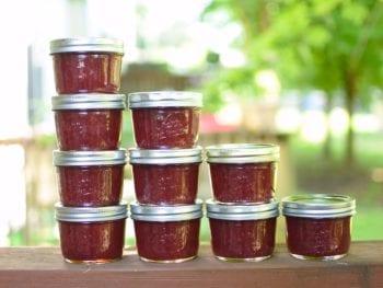 descending jars of strawberry honey jam 350x263 - Honey-Sweetened Strawberry Jam (with pectin)