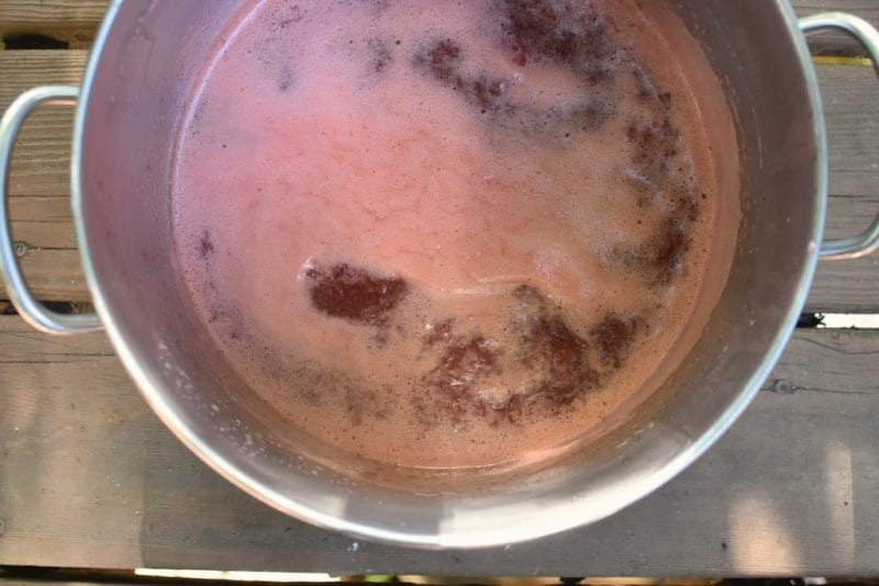 foamy strawberry jam