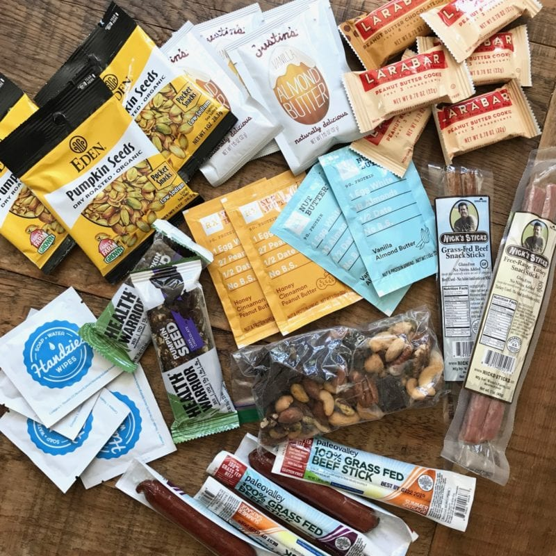 What Real Food Snacks are in my Suitcase this Summer on 100 Days of Real Food