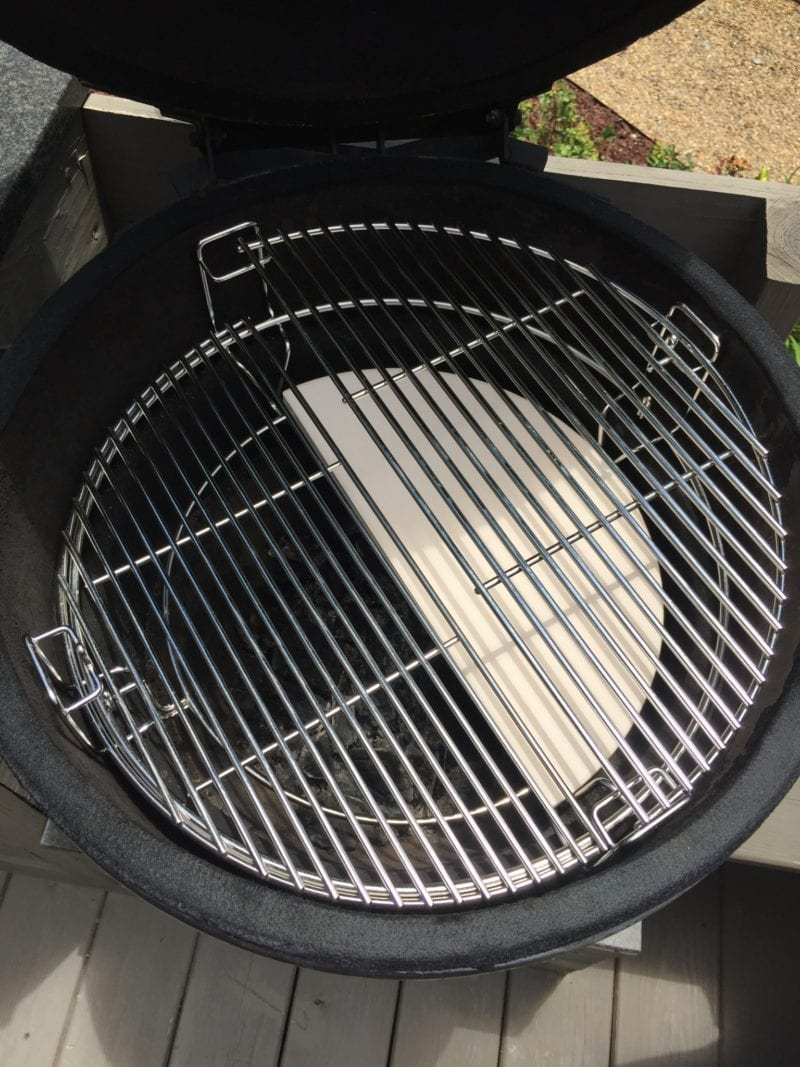 grill cooking grate system 800x1067 - Smoked Ribs (and our Green Egg knockoff from Craigslist)
