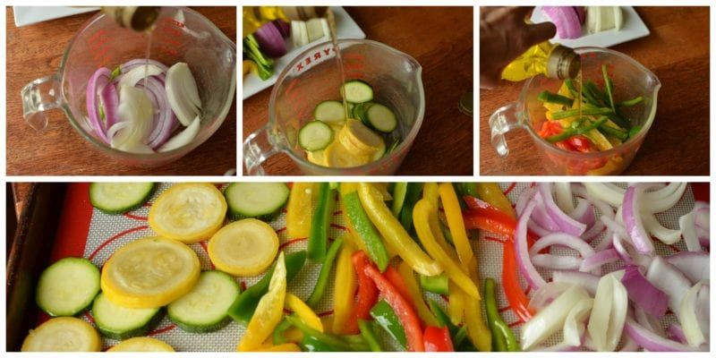 photo of veggies being prepped for roast veggies