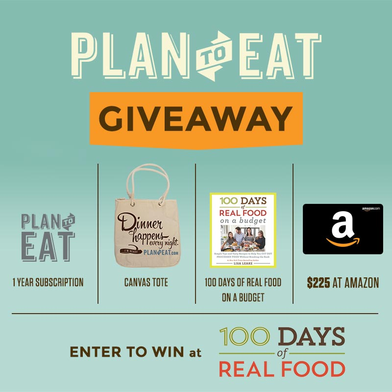 100 Days Banner Plan to eat giveaway - How to Make Meal Planning Easier (with the Plan to Eat App!)