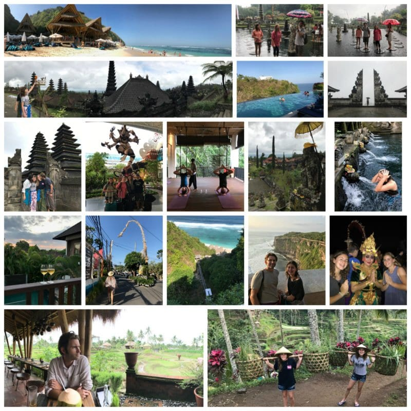 Bali trip collage on 100 Days of Real Food