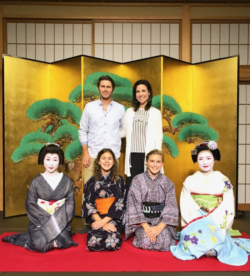 Geisha picture with our family