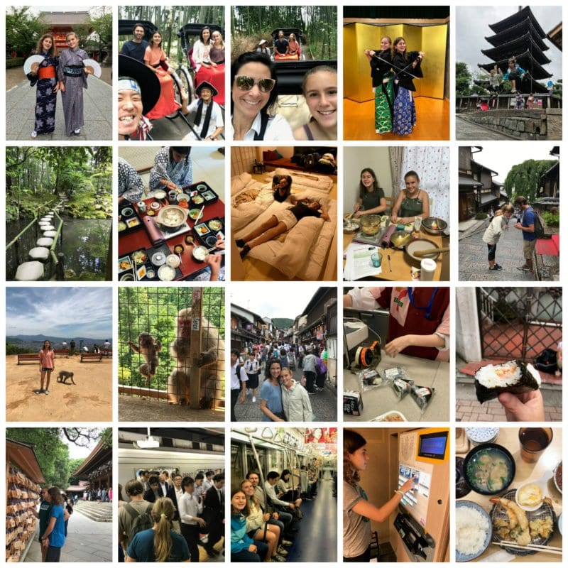 Japan trip collage on 100 Days of Real Food