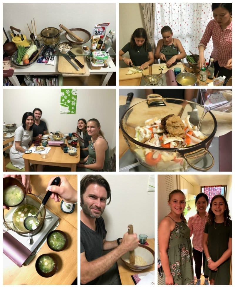 Miso soup cooking lesson collage on 100 Days of Real Food