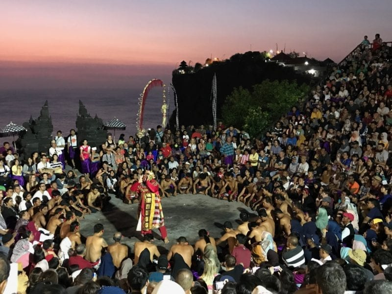 Kecak and fire dance at Uluwatu in Bali