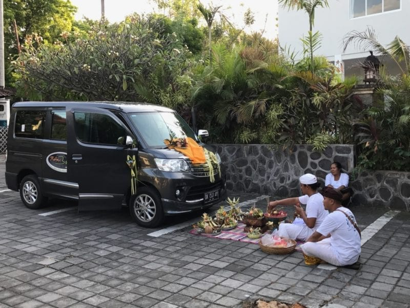 New vehicle ceremony in Bali