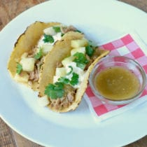 Slow Cooker Pineapple Pork Tacos on 100 Days of Real Food