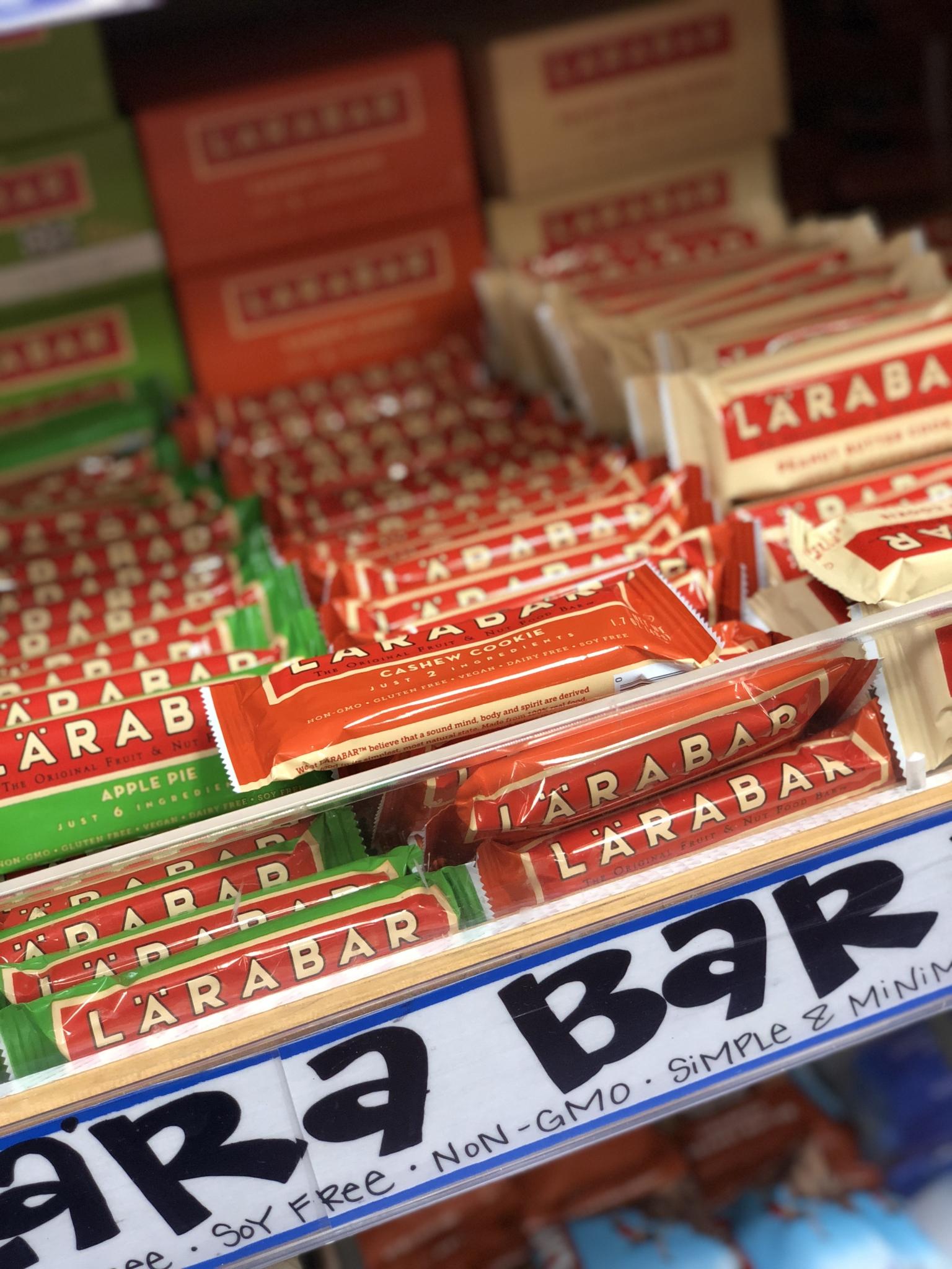 Gluten-free Larabars from Trader Joe's