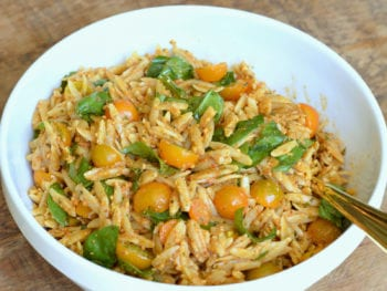 Pasta Salad with Red Pepper Pesto