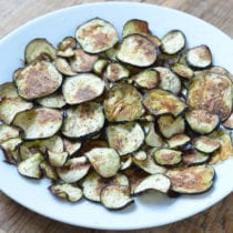 "Roasted Eggplant ""Chips"""