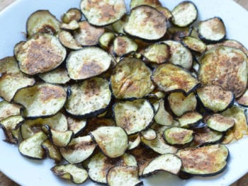 "How to Make Roasted Eggplant ""Chips"""