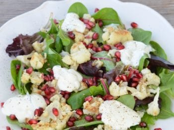 Cauliflower and Pomegranate Salad on 100 Days of Real Food