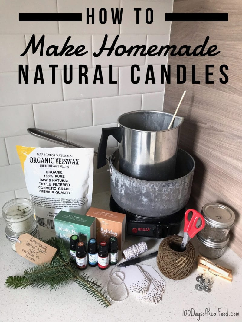 Homemade candle making supplies