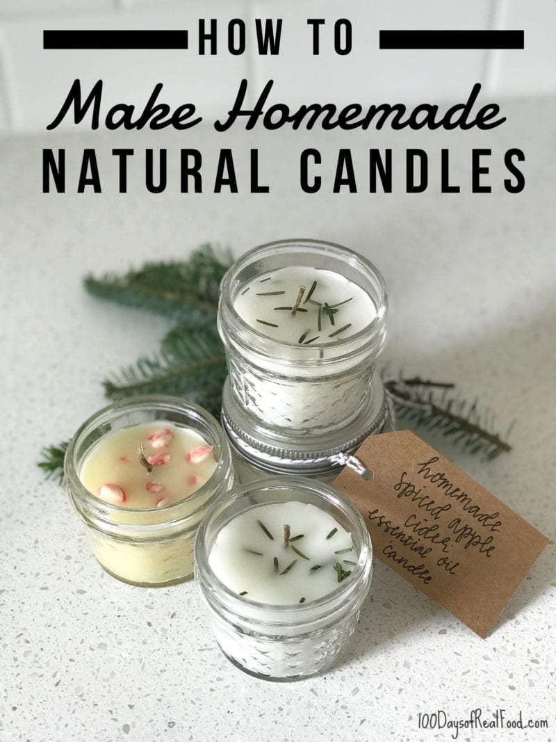 Making homemade candles