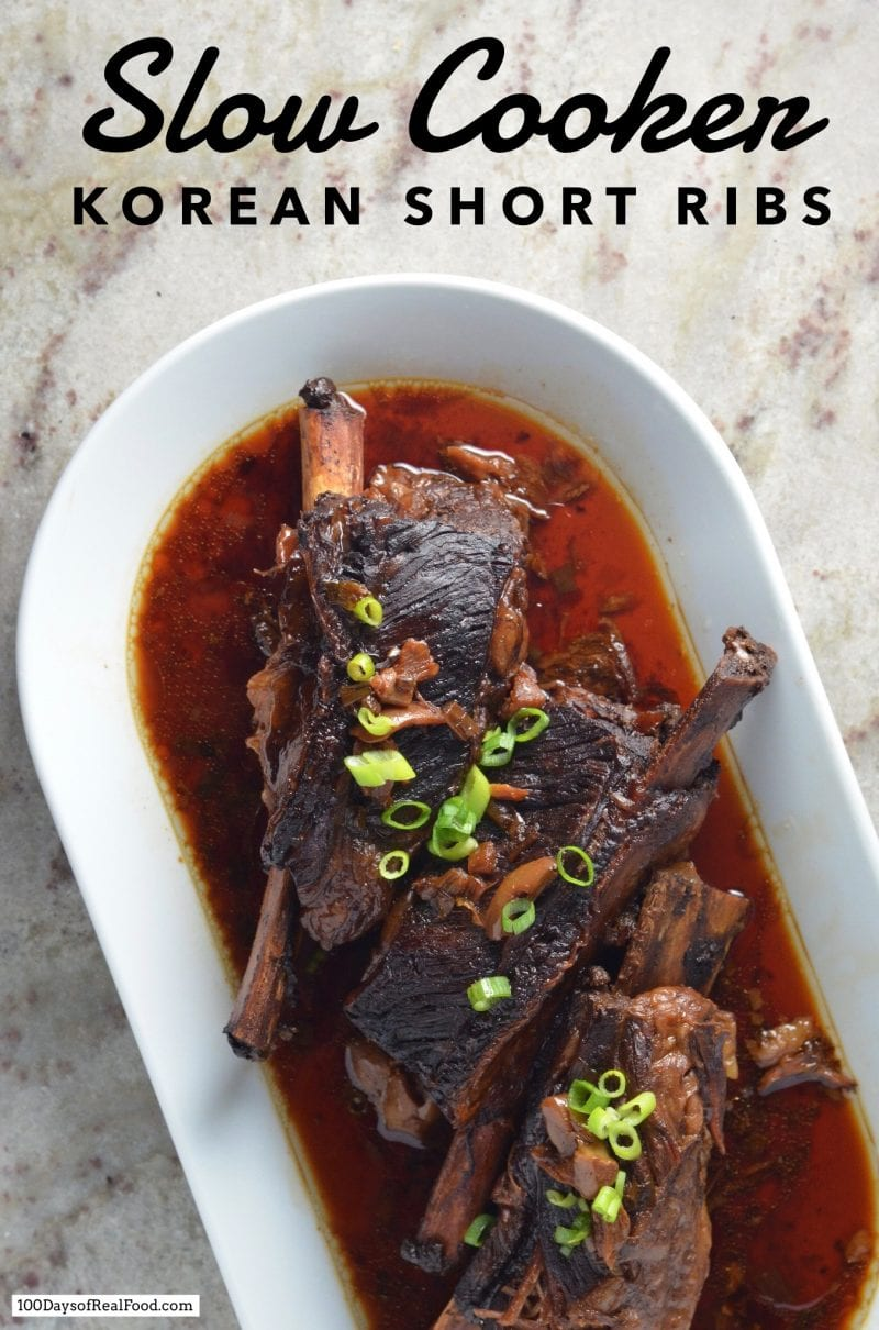 Slow Cooker Korean Short Ribs on 100 Days of Real Food