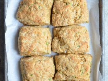 Cheddar Scallion Biscuits (Whole Wheat) on 100 Days of Real Food