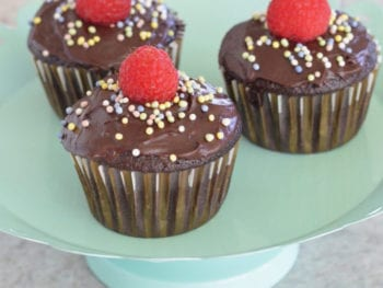 chocolate cupcakes on 100 Days of Real Food