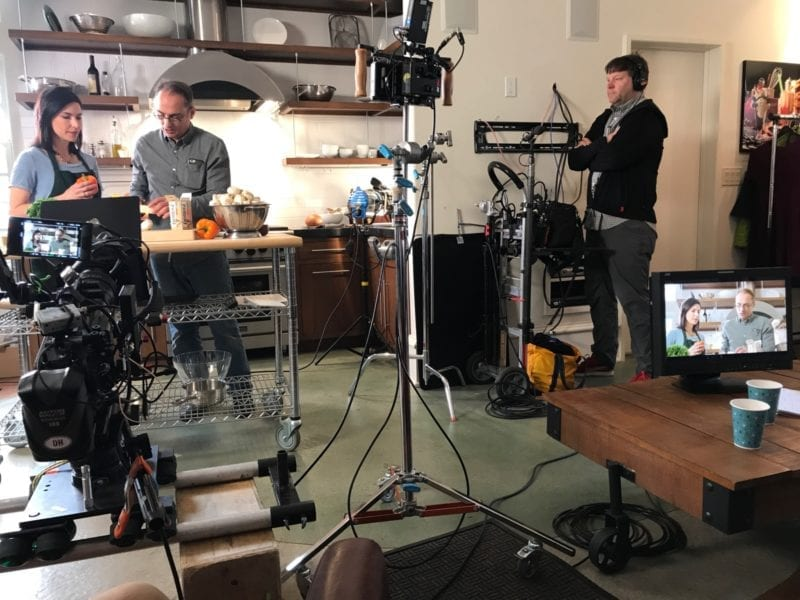 100 Days of Real Food shooting a commercial with Grassland