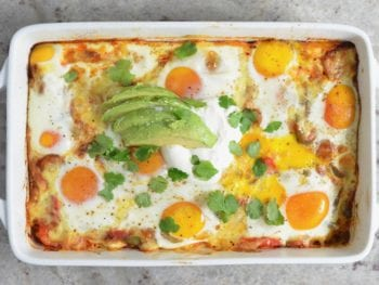 Huevos Rancheros Casserole on 100 Days of Real Food