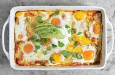 Huevos Rancheros Casserole on 100 Days of Real Food