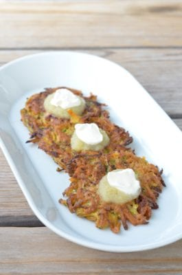 Zucchini and Sweet Potato Pancakes on 100 Days of Real Food
