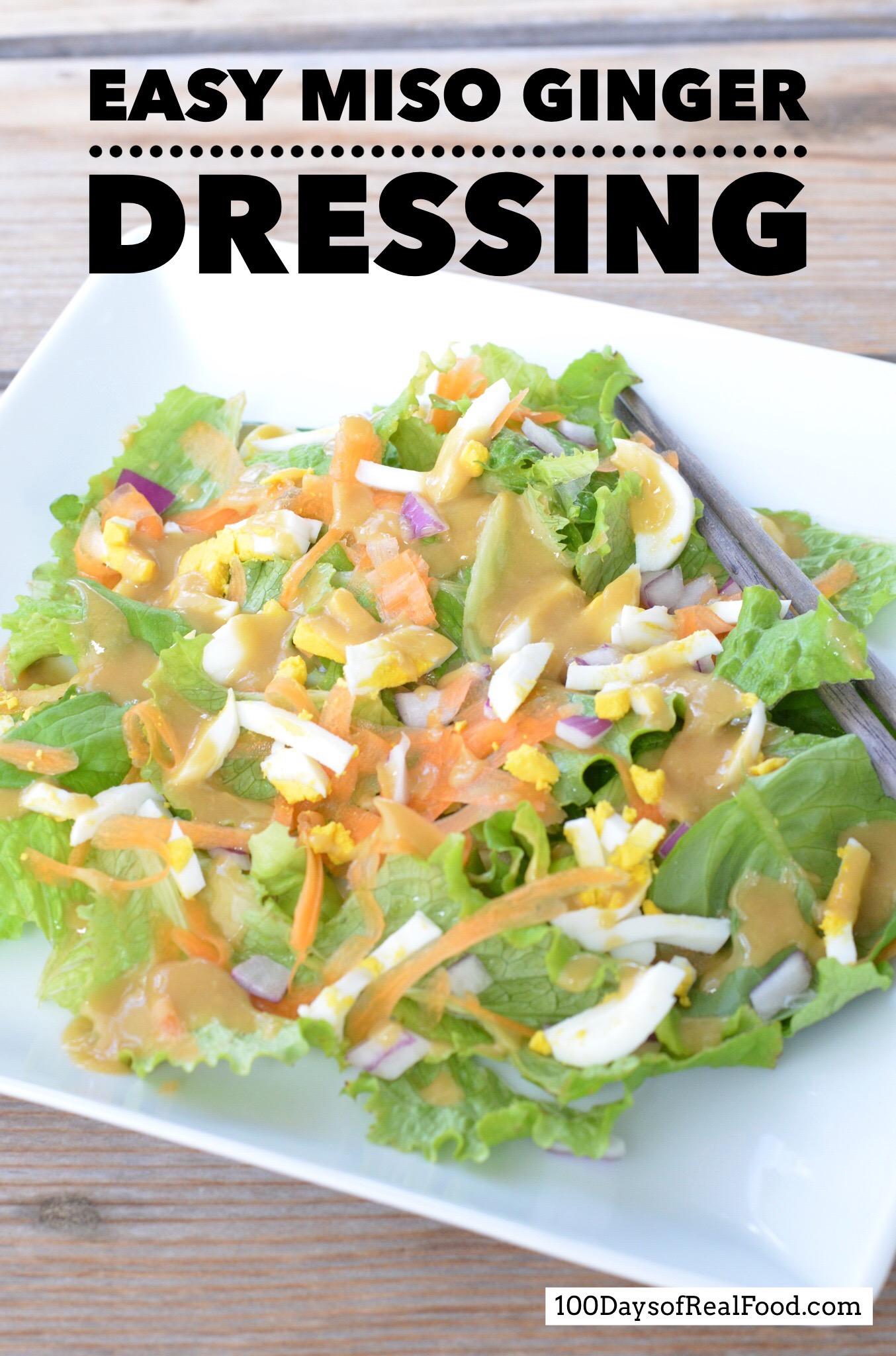 EASY MISO GINGER DRESSING