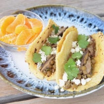 Lentil and mushroom tacos on 100 Days of Real Food