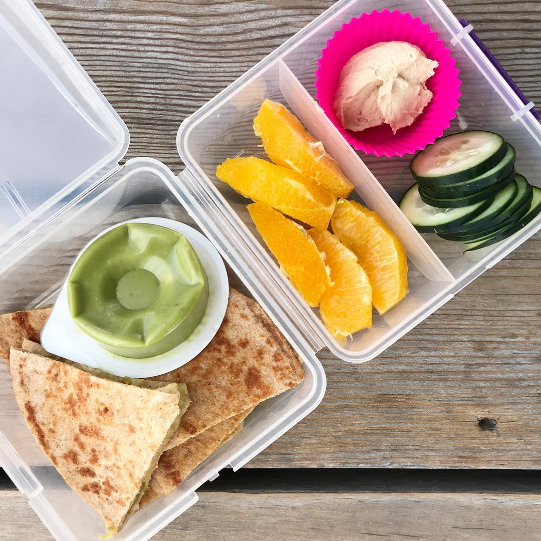 school lunch quesadilla
