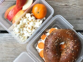 school lunch everything bagel