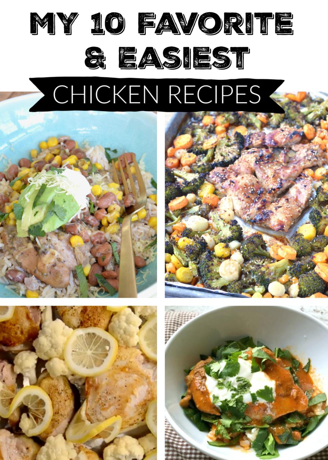 10 favorite chicken recipes
