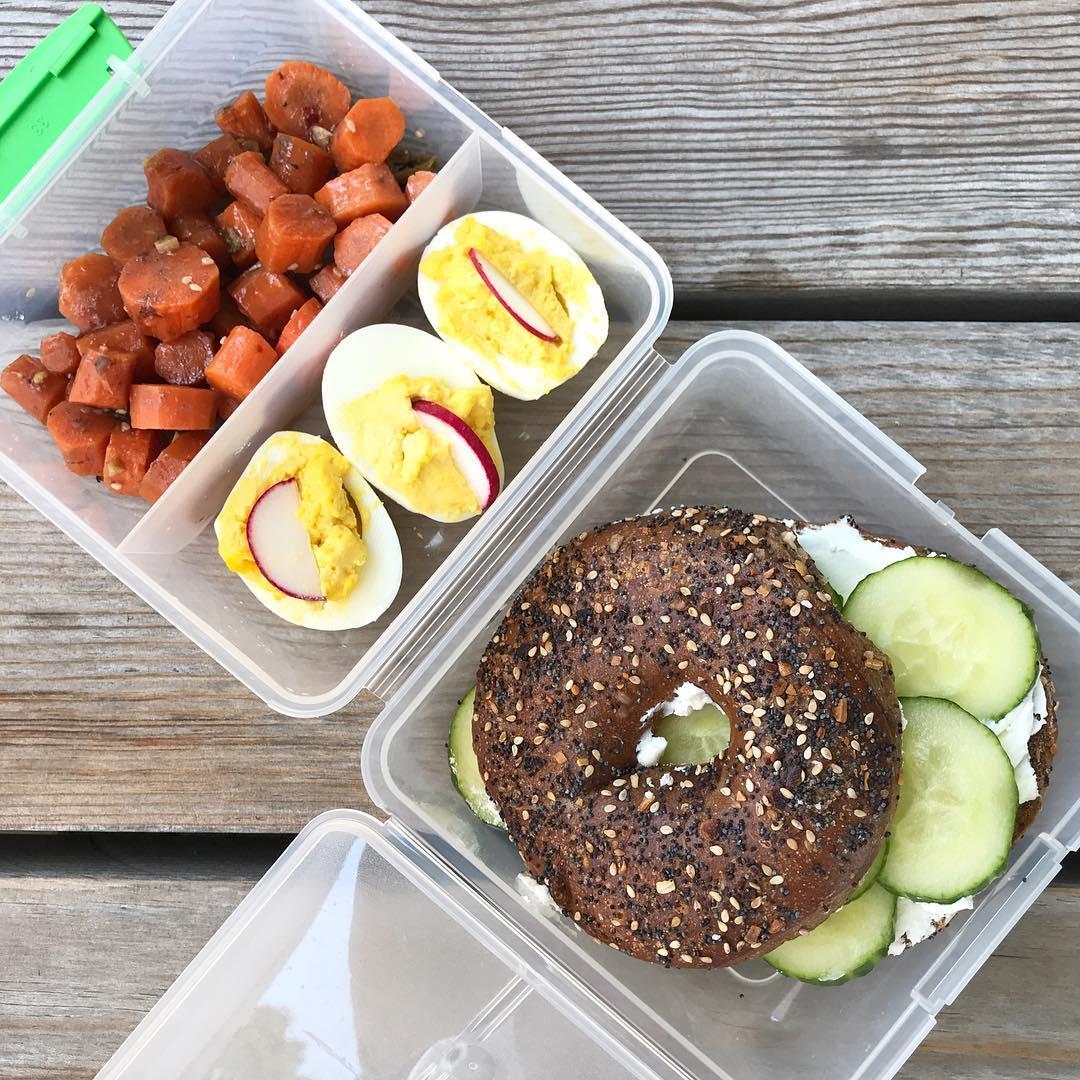 school lunch everything bagel
