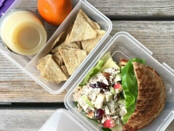 loaded chicken salad lunch