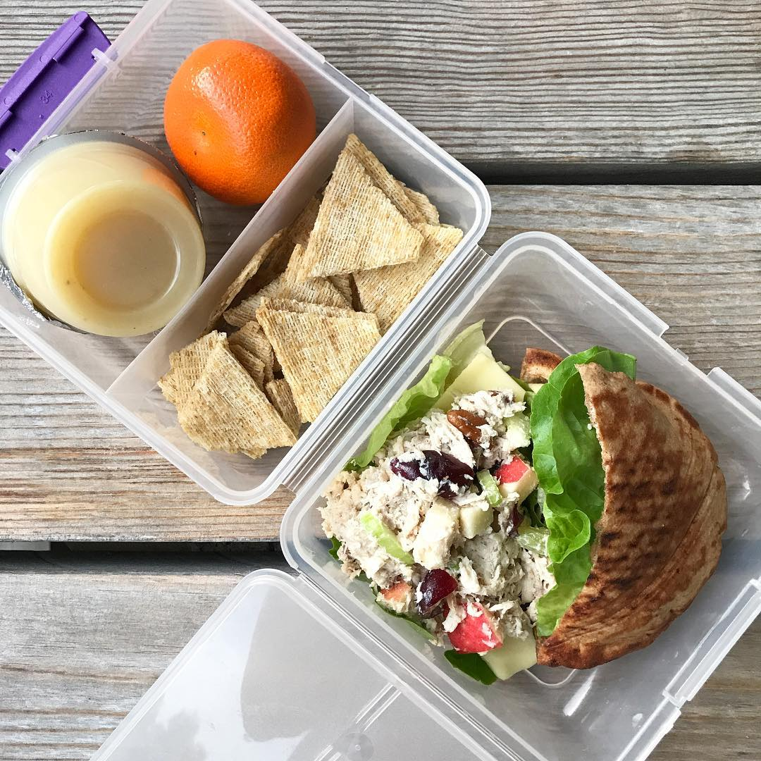 school lunch chicken pita