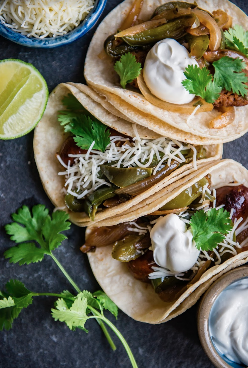 Sausage and Pepper Tacos