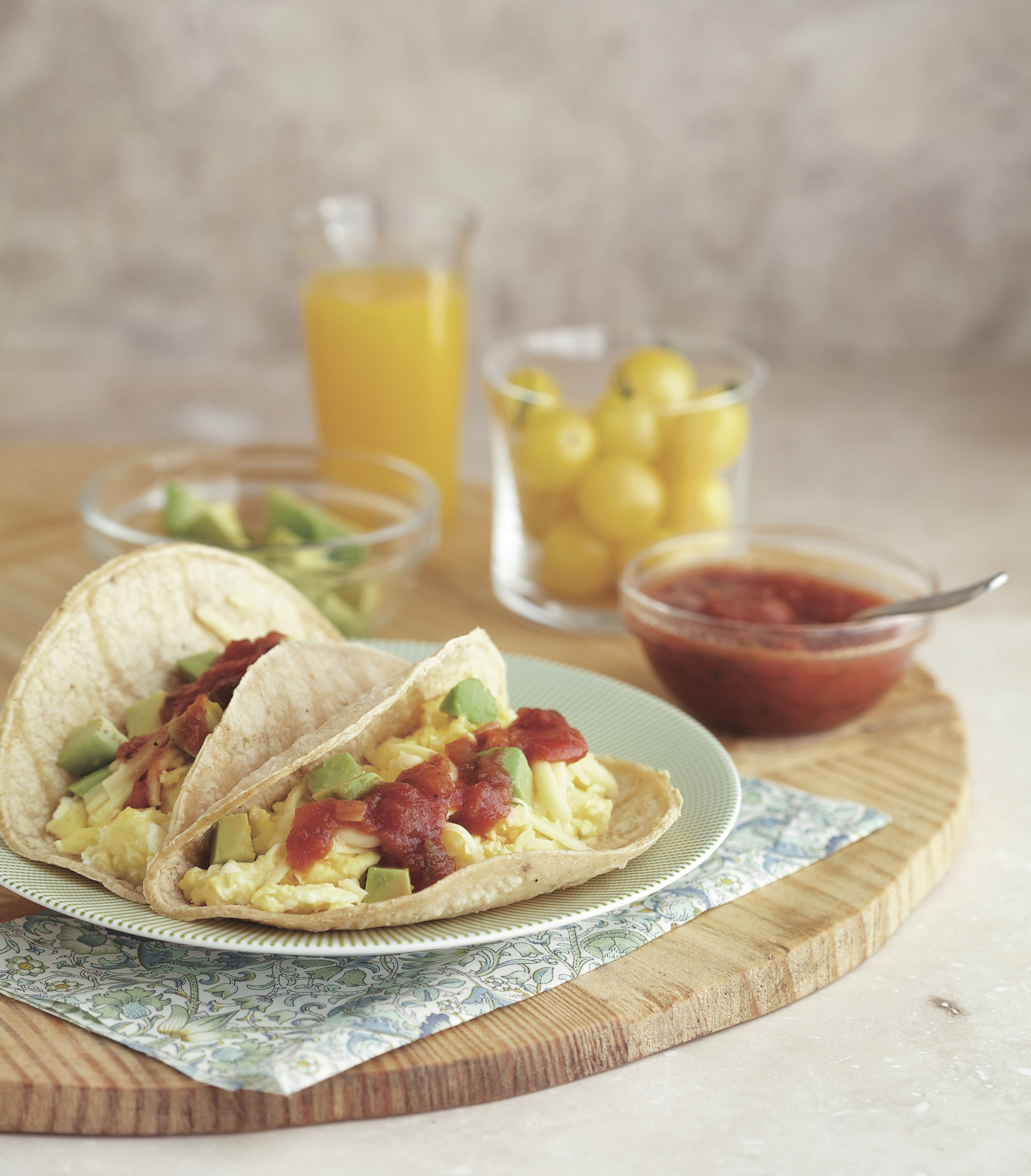 breakfast tacos from first cookbook
