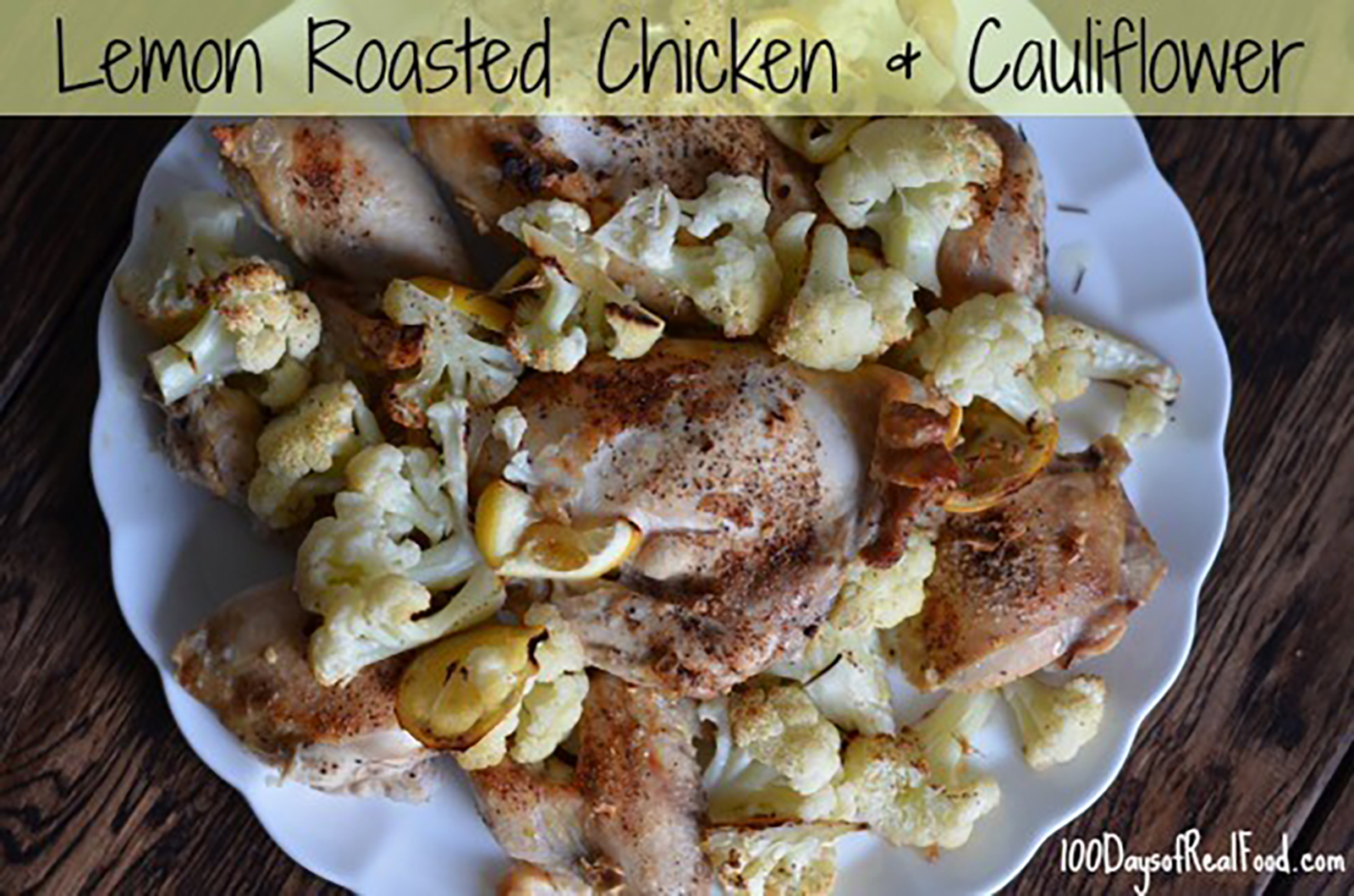 roasted chicken and cauliflower