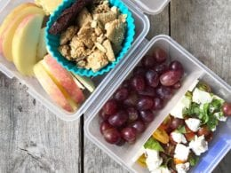 school lunch caprese salad