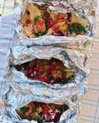Foil Packet Nachos on 100 Days of Real Food