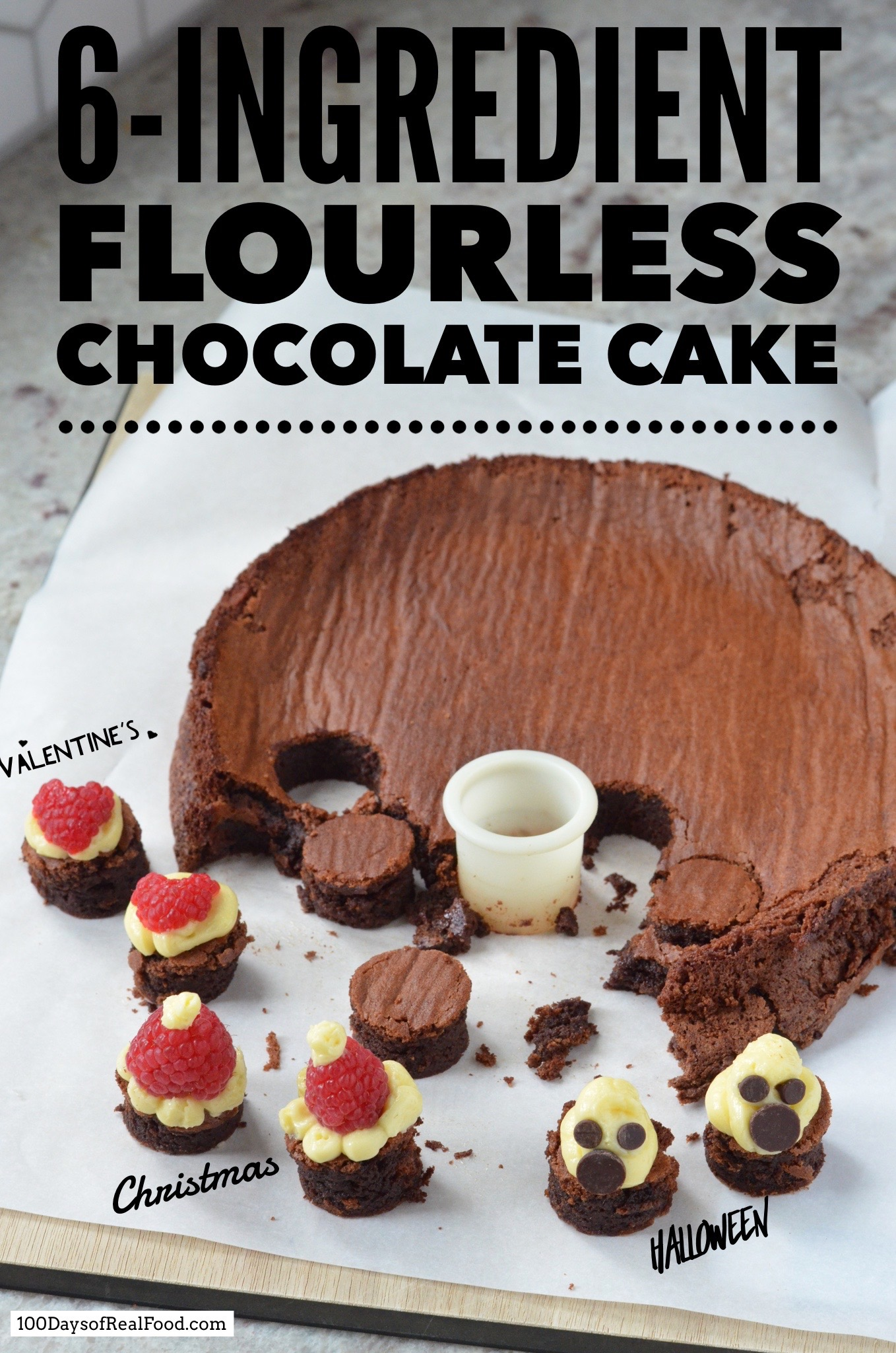 6-ingredient flourless chocolate cake
